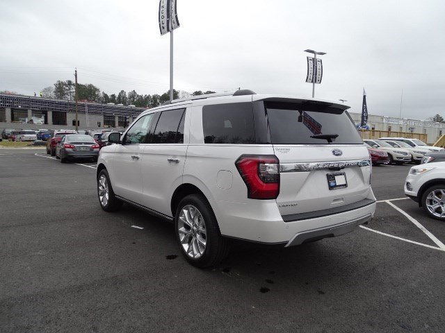 2019 White Platinum Metallic Tri-Coat Ford Expedition Limited 4 Door 4X4 Twin Turbo Premium Unleaded V-6 3.5 L/213 Engine Automatic