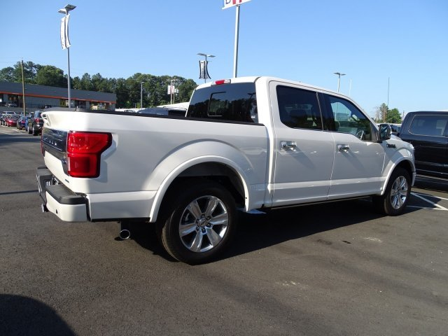 2019 White Platinum Metallic Tri-Coat Ford F-150 Platinum 4 Door Automatic Twin Turbo Regular Unleaded V-6 3.5 L/213 Engine RWD Truck