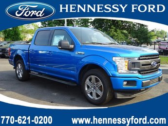 2019 Velocity Blue Metallic Ford F-150 XLT Regular Unleaded V-8 5.0 L/302 Engine RWD Truck 4 Door