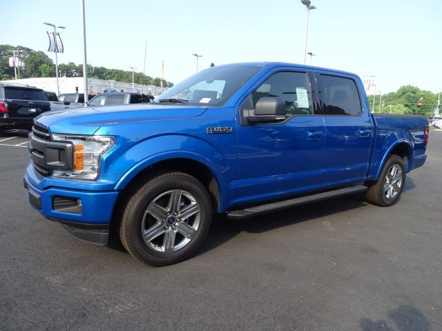 2019 Velocity Blue Metallic Ford F-150 XLT RWD Automatic 4 Door Truck