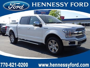 2019 White Platinum Metallic Tri-Coat Ford F-150 LARIAT Truck 4X4 Twin Turbo Regular Unleaded V-6 3.5 L/213 Engine 4 Door Automatic