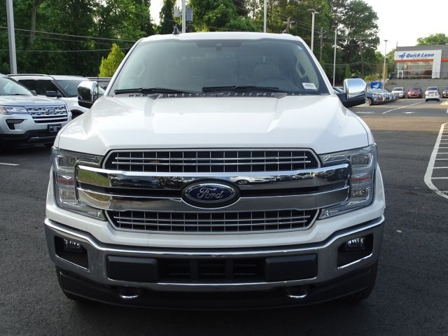2019 White Platinum Metallic Tri-Coat Ford F-150 LARIAT Truck Twin Turbo Regular Unleaded V-6 3.5 L/213 Engine 4X4