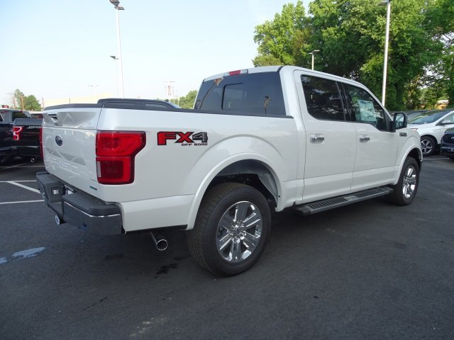 2019 White Platinum Metallic Tri-Coat Ford F-150 LARIAT 4 Door 4X4 Automatic Truck