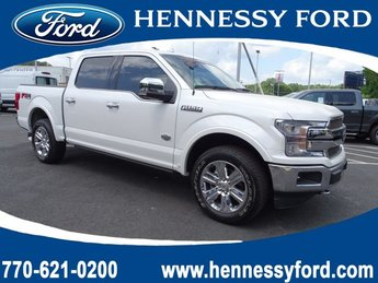 2019 White Platinum Metallic Tri-Coat Ford F-150 King Ranch 4 Door Regular Unleaded V-8 5.0 L/302 Engine Truck 4X4 Automatic