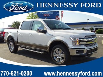 2019 White Platinum Metallic Tri-Coat Ford F-150 LARIAT 4X4 Automatic Truck Regular Unleaded V-8 5.0 L/302 Engine 4 Door