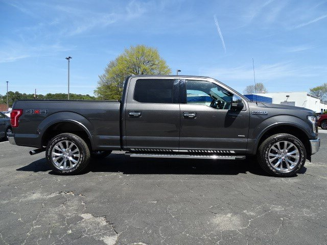 2017 Ruby Red Metallic Tinted Clearcoat Ford F 150 Lariat Twin Turbo Regular Unleaded V