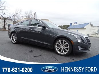 2014 Phantom Gray Metallic Cadillac ATS Premium RWD RWD Gas V6 3.6L/217 Engine 4 Door