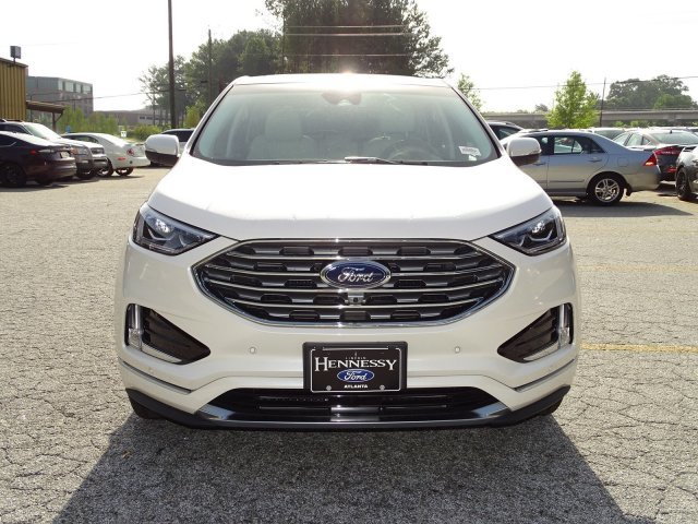 2019 White Platinum Metallic Tri-Coat Ford Edge Titanium 4 Door FWD Automatic