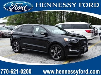 2019 Agate Black Metallic Ford Edge ST AWD Automatic Twin Turbo Premium Unleaded V-6 2.7 L/164 Engine