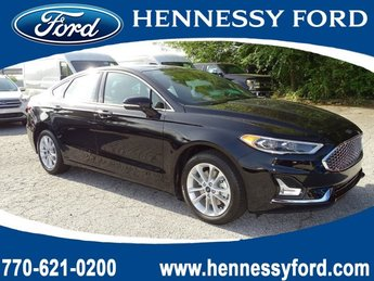 2019 Agate Black Ford Fusion Energi Titanium FWD Automatic (CVT) Sedan 4 Door Gas/Electric I-4 2.0 L/122 Engine