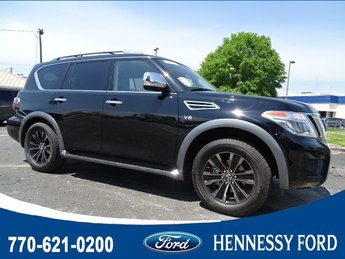 2018 Super Black Nissan Armada Platinum RWD Regular Unleaded V-8 5.6 L/339 Engine Automatic