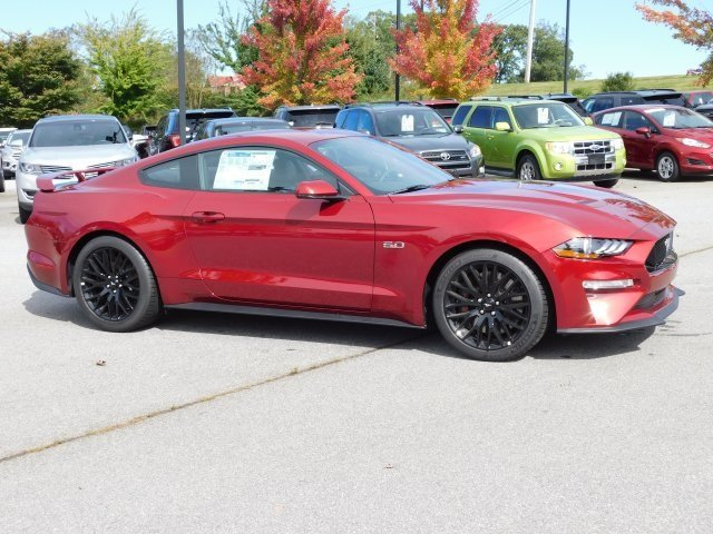 2019 Ruby Red Metallic Tinted Clearcoat Ford Mustang GT Premium Automatic 5.0L V8 Ti-VCT Engine Coupe RWD