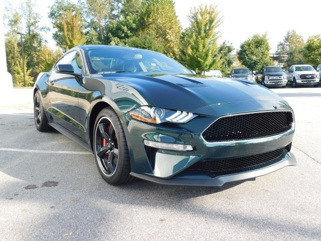 2019 Dark Highland Green Metallic Ford Mustang Bullitt 5.0L V8 Ti-VCT Engine Manual RWD Coupe