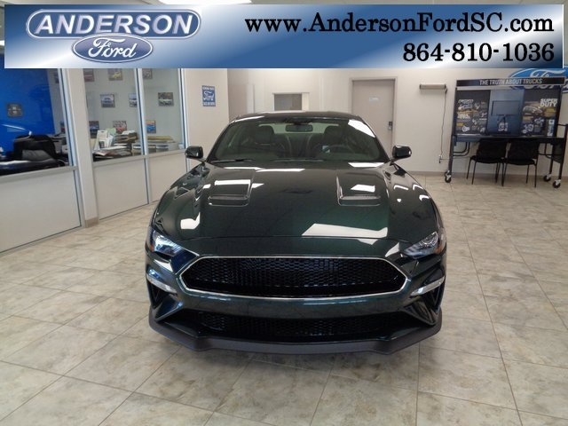 2019 Dark Highland Green Metallic Ford Mustang Bullitt 5.0L V8 Ti-VCT Engine Coupe Manual RWD