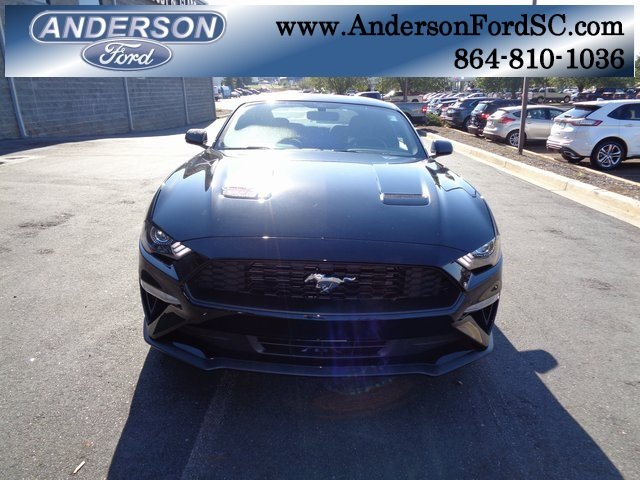 2019 Shadow Black Ford Mustang EcoBoost EcoBoost 2.3L I4 GTDi DOHC Turbocharged VCT Engine Coupe RWD Manual 2 Door