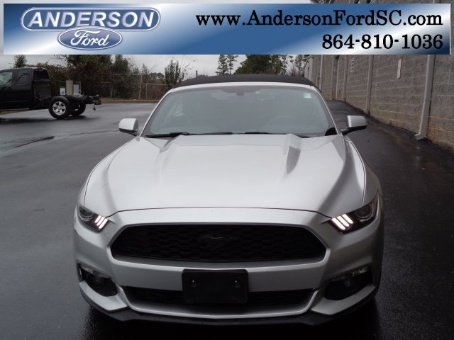 2015 Ingot Silver Metallic Ford Mustang EcoBoost Premium Convertible EcoBoost 2.3L I4 GTDi DOHC Turbocharged VCT Engine Automatic 2 Door RWD