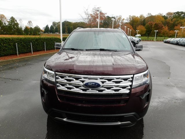 2019 Burgundy Velvet Metallic Tinted Clearcoat Ford Explorer XLT FWD Automatic 3.5L V6 Ti-VCT Engine SUV 4 Door