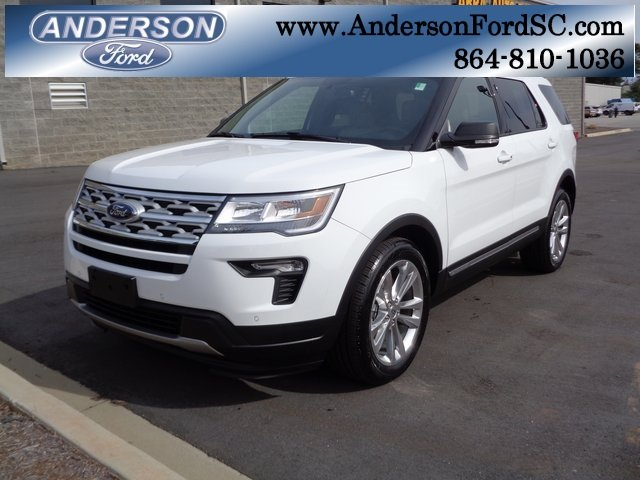 2019 Oxford White Ford Explorer XLT SUV Automatic FWD 4 Door