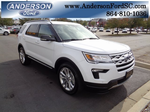 2019 Oxford White Ford Explorer XLT 3.5L V6 Ti-VCT Engine Automatic 4 Door FWD SUV