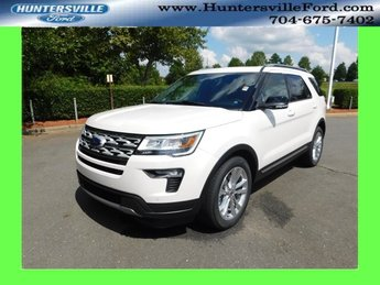 2018 White Ford Explorer XLT SUV FWD 3.5L V6 Ti-VCT Engine Automatic 4 Door