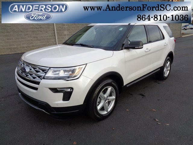 2019 White Metallic Ford Explorer XLT Automatic FWD 3.5L V6 Ti-VCT Engine