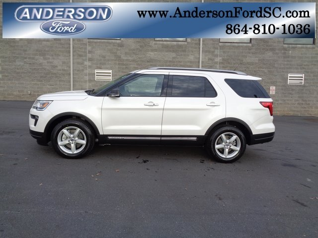 2019 White Metallic Ford Explorer XLT FWD 4 Door SUV Automatic 3.5L V6 Ti-VCT Engine