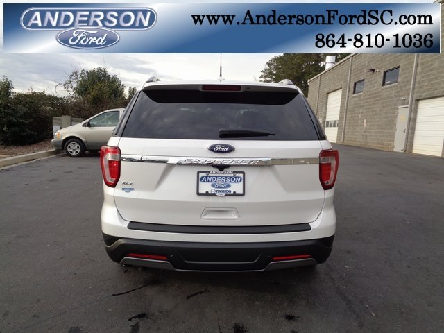 2019 White Metallic Ford Explorer XLT FWD 4 Door SUV 3.5L V6 Ti-VCT Engine Automatic