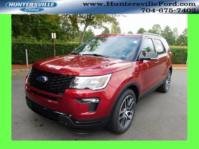 2018 Ruby Red Metallic Tinted Clearcoat Ford Explorer Sport 3.5L Engine 4X4 4 Door Automatic SUV