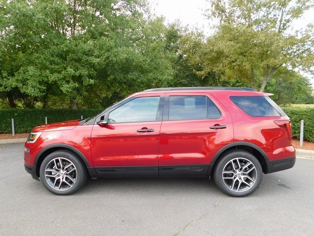 2018 Ruby Red Metallic Tinted Clearcoat Ford Explorer Sport 4X4 SUV 4 Door 3.5L Engine Automatic
