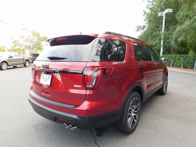 2018 Ruby Red Metallic Tinted Clearcoat Ford Explorer Sport 3.5L Engine SUV Automatic 4X4
