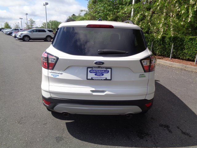 2018 White Platinum Clearcoat Metallic Ford Escape SEL EcoBoost 1.5L I4 GTDi DOHC Turbocharged VCT Engine Automatic SUV FWD 4 Door