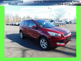 2016 Ruby Red Metallic Tinted Clearcoat Ford Escape Titanium EcoBoost 2.0L I4 GTDi DOHC Turbocharged VCT Engine 4 Door FWD