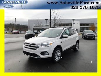 2019 White Platinum Clearcoat Metallic Ford Escape SEL SUV EcoBoost 1.5L I4 GTDi DOHC Turbocharged VCT Engine 4 Door 4X4