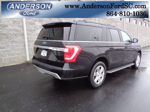 2019 Agate Black Metallic Ford Expedition Max XLT 4 Door RWD Automatic EcoBoost 3.5L V6 GTDi DOHC 24V Twin Turbocharged Engine