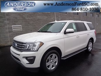 2019 White Metallic Ford Expedition XLT EcoBoost 3.5L V6 GTDi DOHC 24V Twin Turbocharged Engine 4 Door RWD Automatic