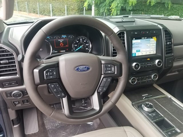 2018 Blue Metallic Ford Expedition Limited Automatic 4 Door EcoBoost 3.5L V6 GTDi DOHC 24V Twin Turbocharged Engine SUV