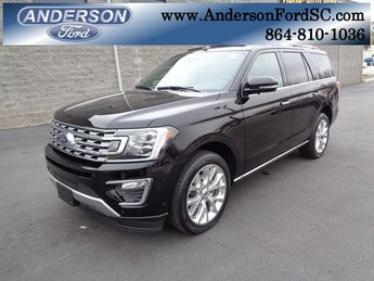 2019 Agate Black Metallic Ford Expedition Limited EcoBoost 3.5L V6 GTDi DOHC 24V Twin Turbocharged Engine RWD 4 Door Automatic