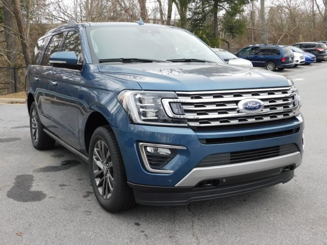 2019 Blue Metallic Ford Expedition Limited 4 Door 4X4 SUV EcoBoost 3.5L V6 GTDi DOHC 24V Twin Turbocharged Engine