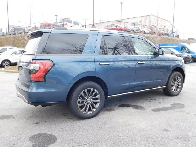 2019 Blue Metallic Ford Expedition Limited 4X4 Automatic EcoBoost 3.5L V6 GTDi DOHC 24V Twin Turbocharged Engine 4 Door SUV