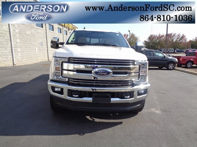 2019 White Ford Super Duty F-250 SRW Lariat Truck Power Stroke 6.7L V8 DI 32V OHV Turbodiesel Engine 4 Door 4X4 Automatic
