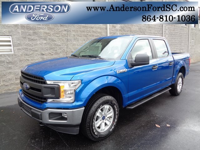 2018 Lightning Blue Ford F-150 XL 4 Door 5.0L V8 Ti-VCT Engine 4X4 Truck Automatic