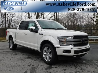 2019 White Metallic Ford F-150 Platinum Truck Automatic 4 Door 5.0L V8 Ti-VCT Engine 4X4