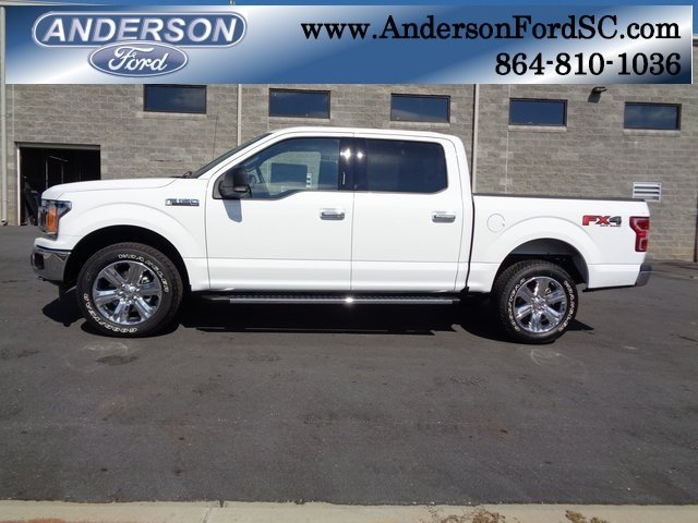 2018 Oxford White Ford F-150 XLT 4 Door Truck EcoBoost 3.5L V6 GTDi DOHC 24V Twin Turbocharged Engine