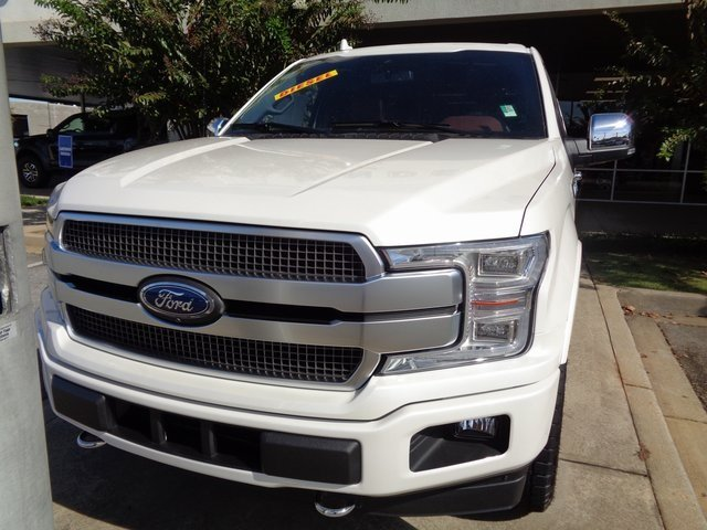 2018 White Metallic Ford F-150 Platinum Automatic 3.0L Diesel Turbocharged Engine 4 Door 4X4