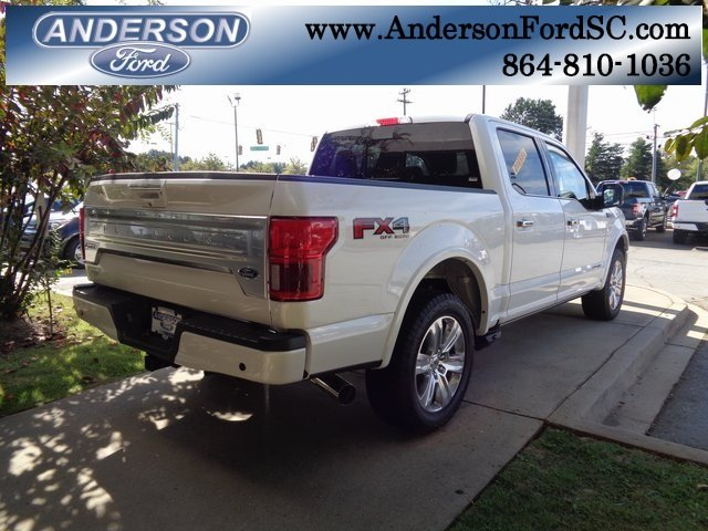 2018 White Metallic Ford F-150 Platinum 4X4 Automatic 4 Door Truck