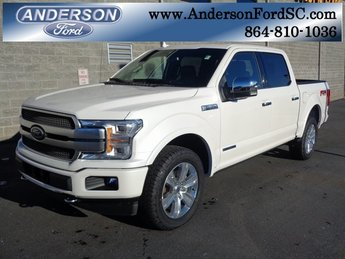 2018 White Metallic Ford F-150 Platinum Truck 4X4 Automatic 3.0L Diesel Turbocharged Engine 4 Door