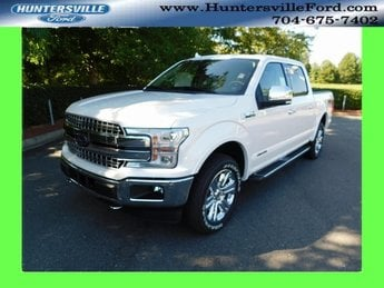 2018 White Metallic Ford F-150 Lariat 3.0L Diesel Turbocharged Engine Truck 4X4 4 Door Automatic