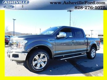 2018 Magnetic Metallic Ford F-150 Lariat Truck 3.0L Diesel Turbocharged Engine Automatic