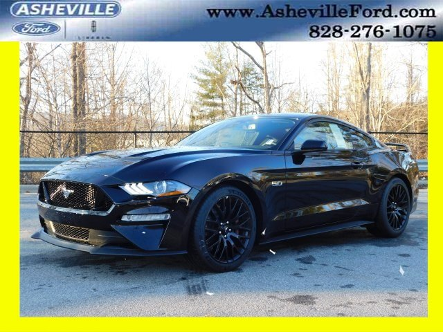 2019 Shadow Black Ford Mustang GT RWD 5.0L V8 Ti-VCT Engine Manual