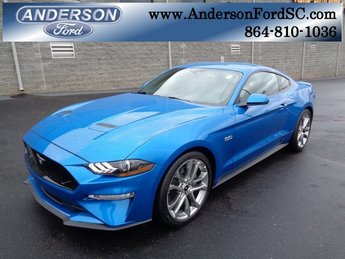 2019 Blue Metallic Ford Mustang GT Premium Automatic RWD Coupe 5.0L V8 Ti-VCT Engine 2 Door